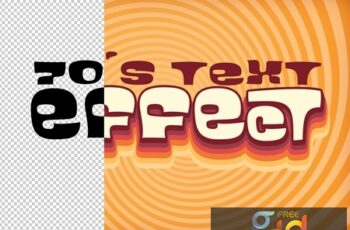 Text Effect Layout with 60S Style Design 322145580 2