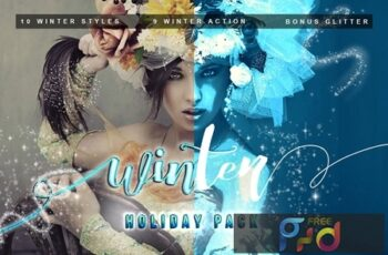 Photoshop Action winter package 2XBZAQX 9