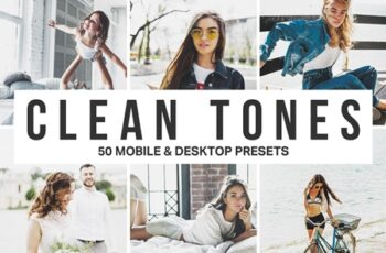 50 Clean Tones Lightroom Presets and LUTs 4535643 2