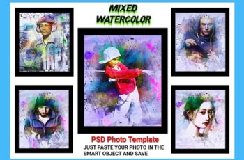 Mixed Watercolor Photo Template 4537993 6