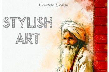 Stylish Art Photoshop Action 25667378 3