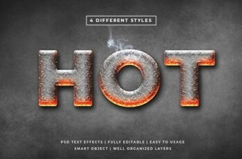 Hot 3d Text Style Effects Mockup 25632987 2