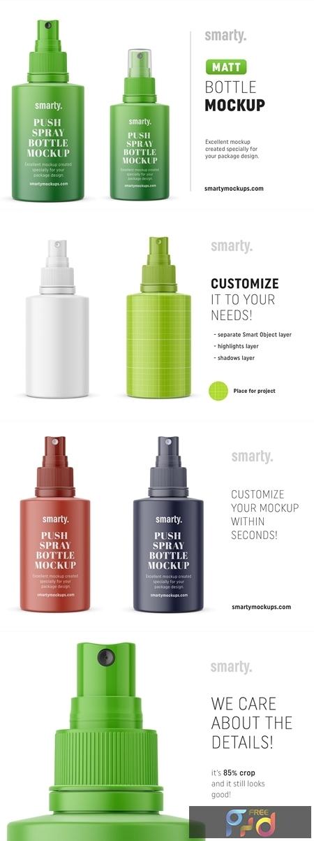 Glossy push spray bottle mockup 4513001 1