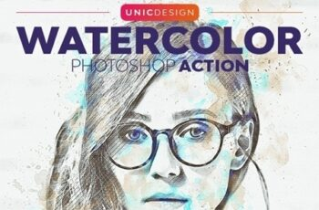 Watercolor Photoshop Action 25589344 3