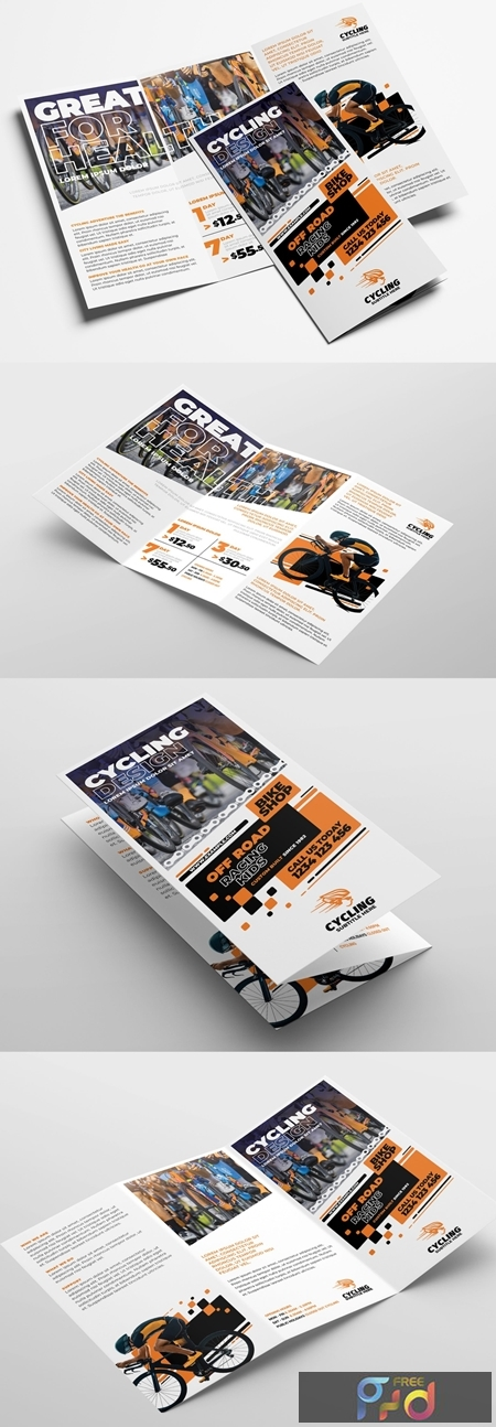 Cycling Shop Trifold Brochure Layout 322611393 1
