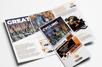 Cycling Shop Trifold Brochure Layout 322611393 2
