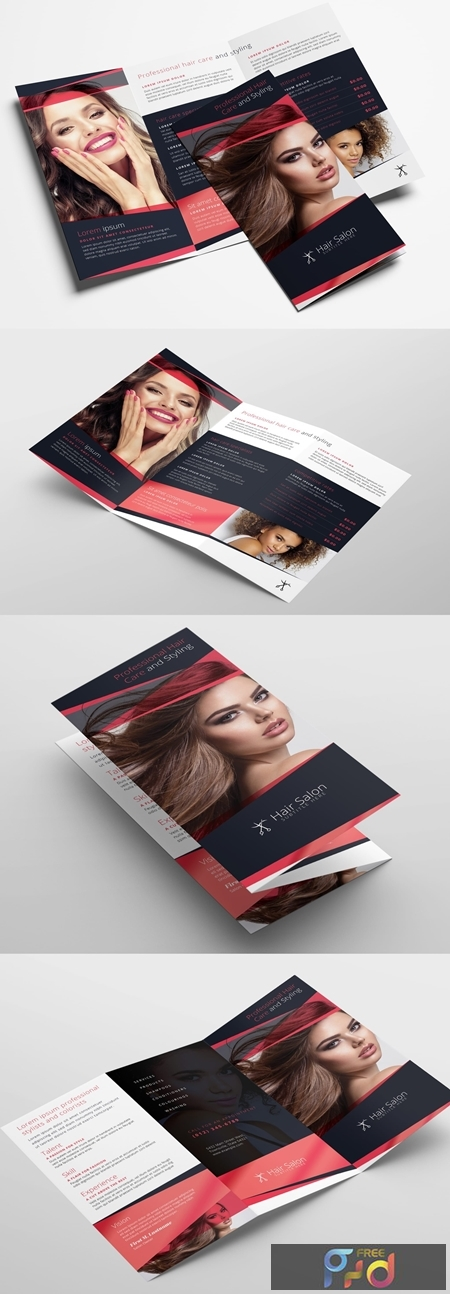 Trifold Brochure Layout for Beauty Businesses 322611317 1