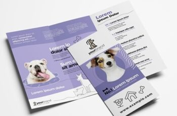 Trifold Brochure Layout for Pet and Vet Services 322611290 2