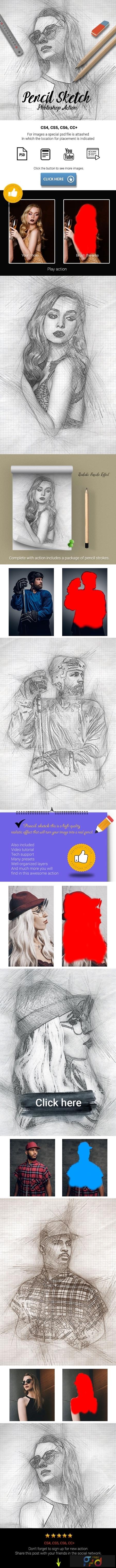 Pencil Sketch Photoshop Action 25638686 1