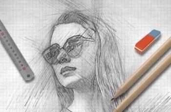 Pencil Sketch Photoshop Action 25638686 6