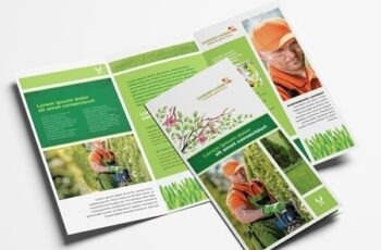 Trifold Layout for Gardening Landscape Services 322611212 8