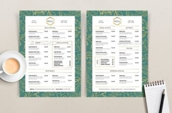 Golden Leaf - Menu Template 25703285 7