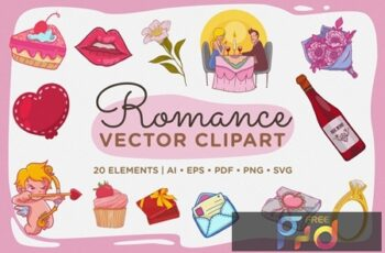 Romance Vector Clipart Pack ACB55L8 12