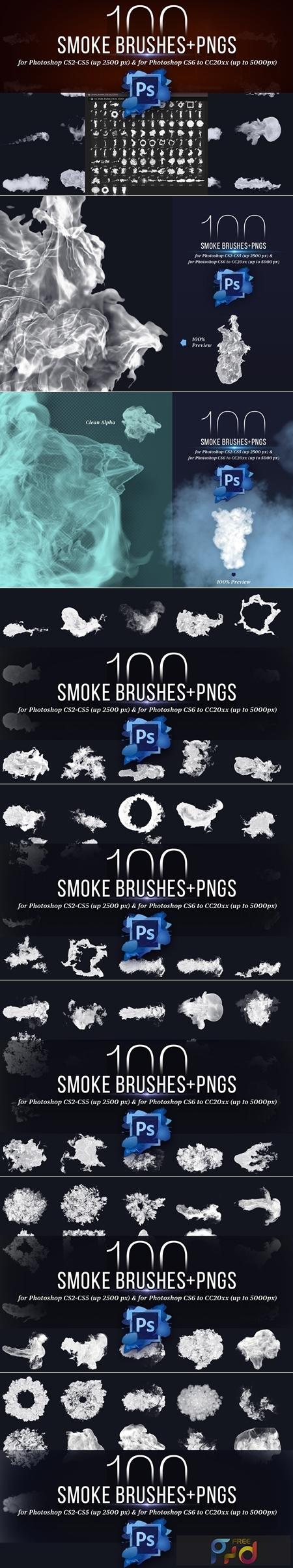 100 Photoshop Smoke Brushes + PNGs 4421254 1