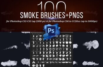 100 Photoshop Smoke Brushes + PNGs 4421254 6