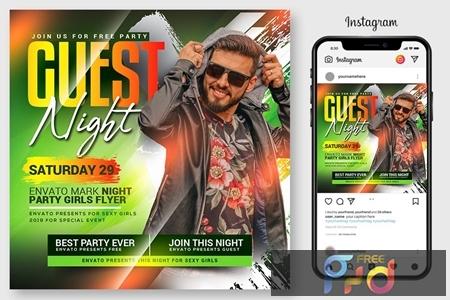 Guest Dj Night Flyer Template 4546976 1