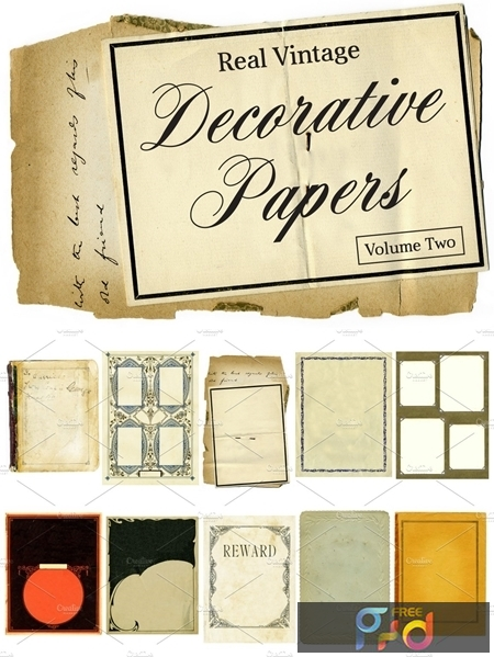Real Vintage Decorative Papers Vol 2 4691 1