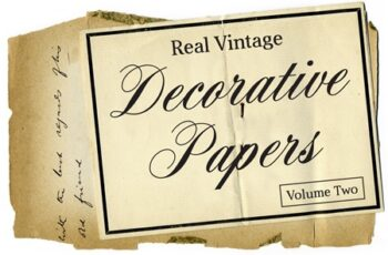 Real Vintage Decorative Papers Vol 2 4691 7