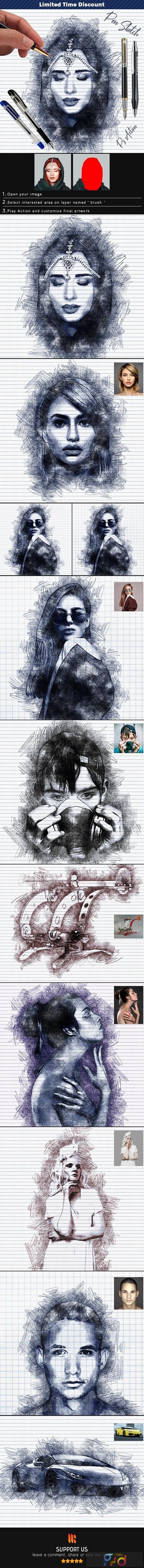 Pen Sketch Photoshop Action 25774811 1