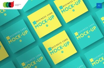 Square - Business Card Mock-Up V1 217319 6