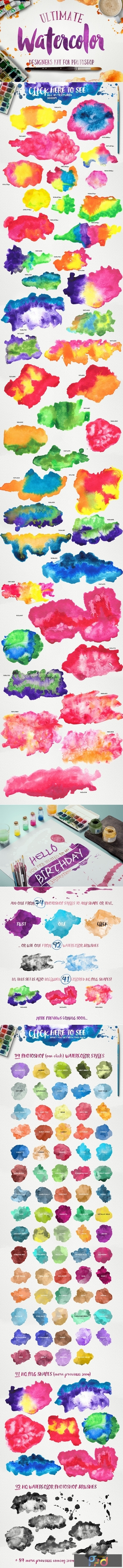 Watercolor KIT for Photoshop 223071 1