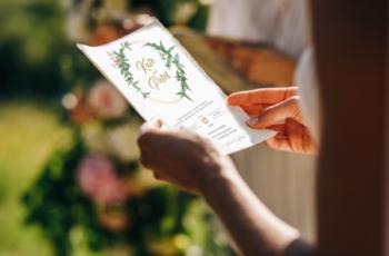 Greenery Wedding Invitation Template Set 2933725 5