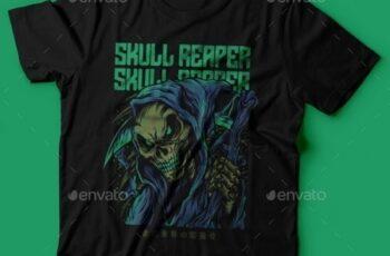 Skull Reaper T-Shirt Design 25672416 5