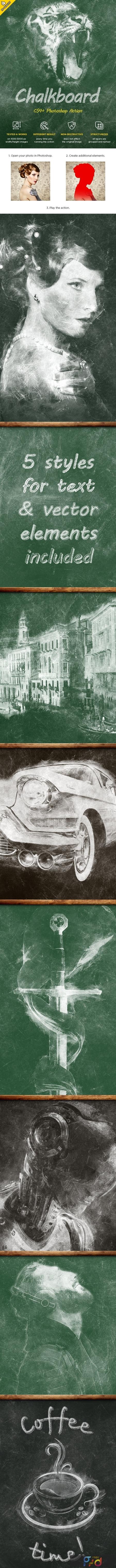 Chalkboard CS4+ Photoshop Action 22530831 1