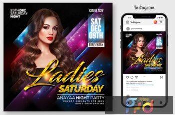Ladies Night Flyer Template 4564937 3