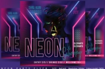 Neon Party Flyer 4553867 4