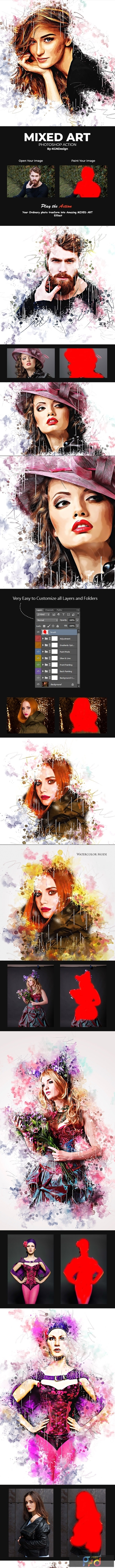 Mixed Art Photoshop Action 22475807 1