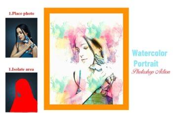 Watercolor Portrait Photoshop Action 4501392 5