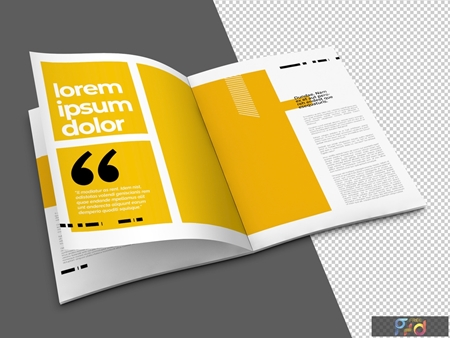 Open Brochure Mockup with Transparent Background 323043256 1