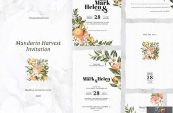 Mandarin Harvest Invitation G5FTXVC 5