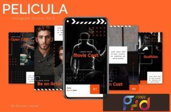 Pelicula - Instagram Story Pack JLWSPMK 4
