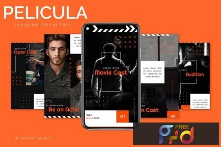 Pelicula - Instagram Story Pack JLWSPMK 1