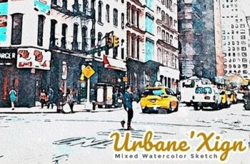 UrbaneXign - Mixed Watercolor Sketch 25571750 16