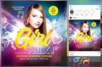Girl Mix Flyer 4542011 4