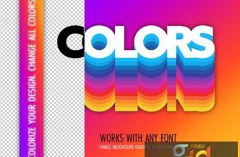 Retro Colors Text Effect Mockup 324047048 9