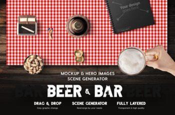 Beer & Bar Mockup Scene Generator 4519952 2