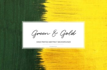 Green & Gold Abstract Backgrounds 2999599 8