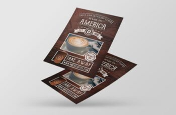 Take Away Coffee Shop Flyer Template 2999828 3