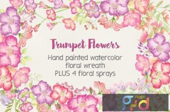 Trumpet Flowers- Wreath and Sprays NCEXWZE 4