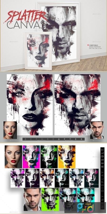 Splatter Canvas Photo Template 25808531 1
