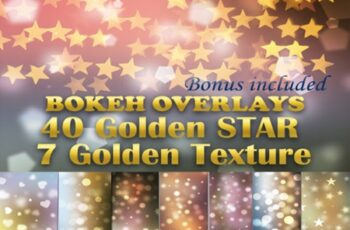 40 Gold Star Overlays 7 Golden Textures 2998931 6