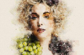 Watercolor & Pencil Photoshop Action 25825237 3
