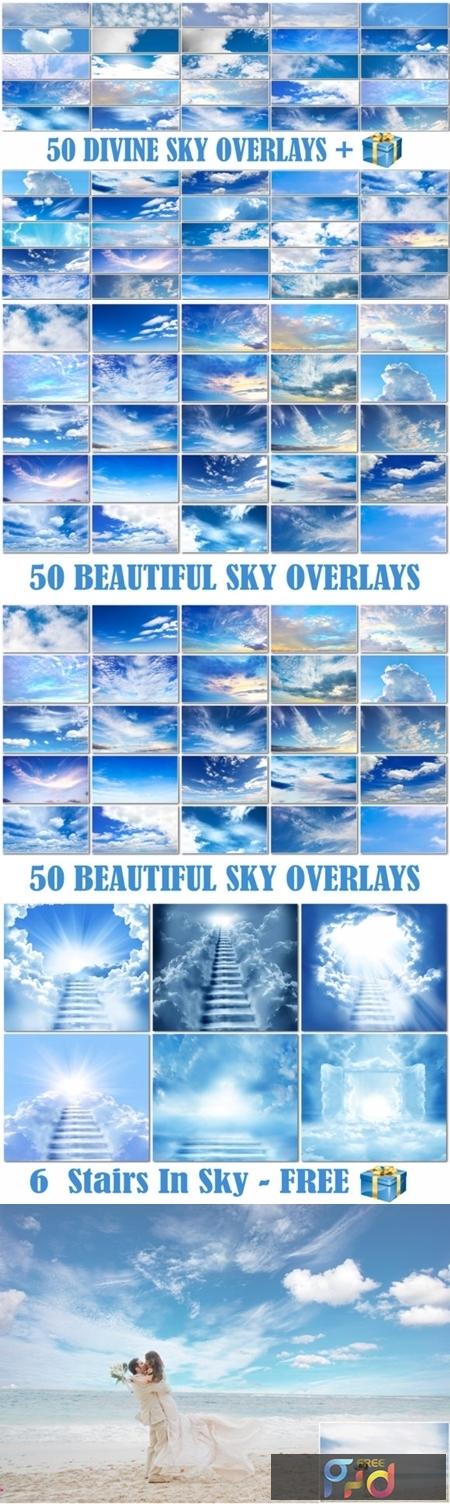 50 Blue Cloud Sky Overlays Skies Texture 2998929 1
