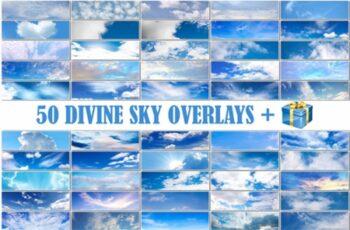 50 Blue Cloud Sky Overlays Skies Texture 2998929 2
