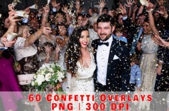 60 Falling Confetti Overlays, Birthday 2998864 4