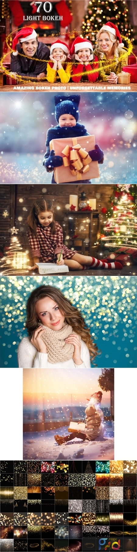 70 Christmas Light Bokeh Photo Overlays 2998860 1